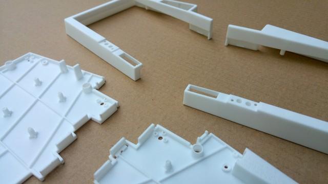 6th generation UHK case prototype, close view