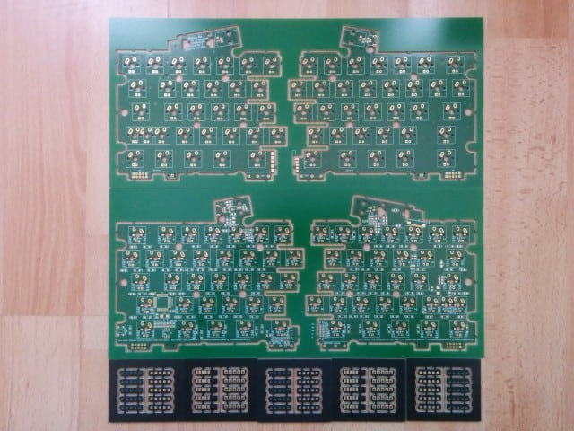The panelized PCB
