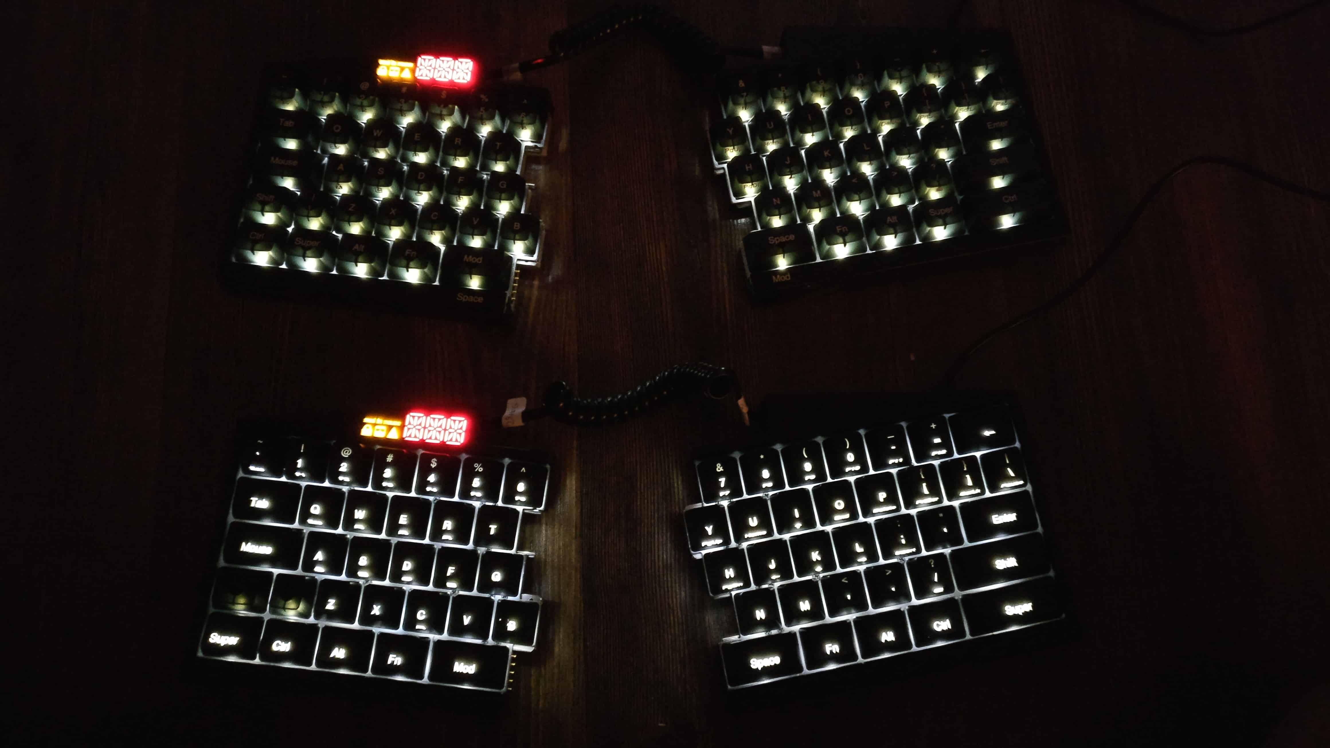 Features Ultimate Hacking Keyboard Light Wiring Diagram Backlit Uhk Prototypes At Night