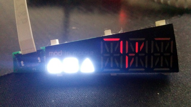 LED display ghosting
