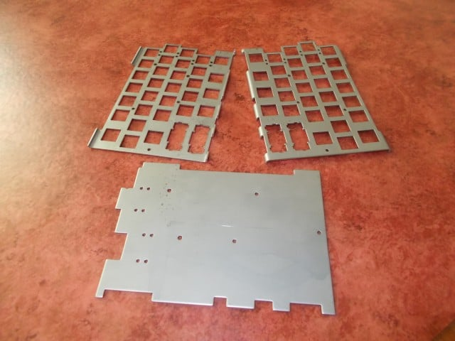 First samples of the metal plates