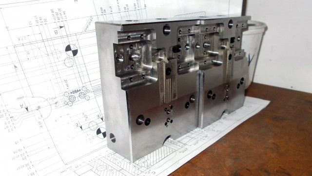 The mold of a case button