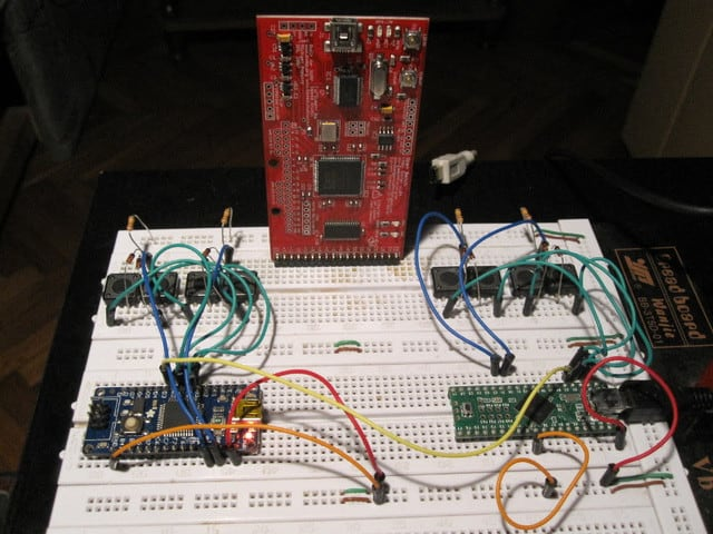 The UHK on the breadboard
