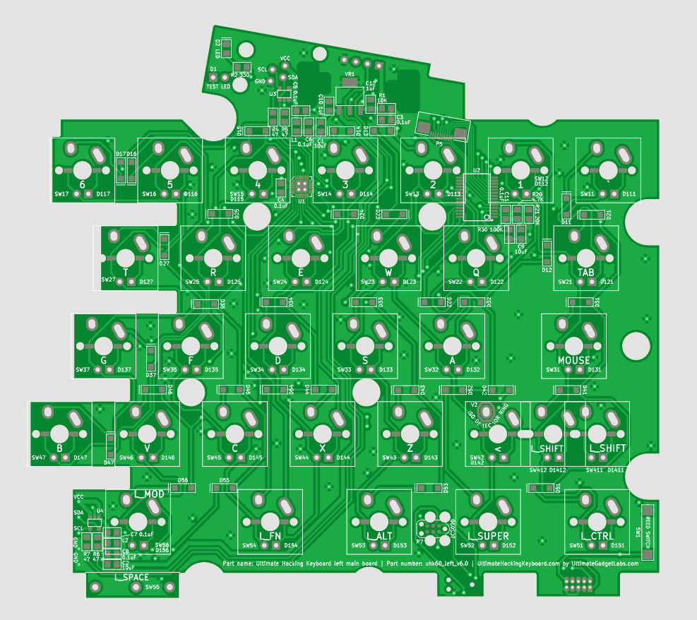 Features Archives Ultimate Hacking Keyboard Pcs Blank Universal Pcb Diy Circuit Board 8 X 12 Cm For Electronic The Back Side Of Left