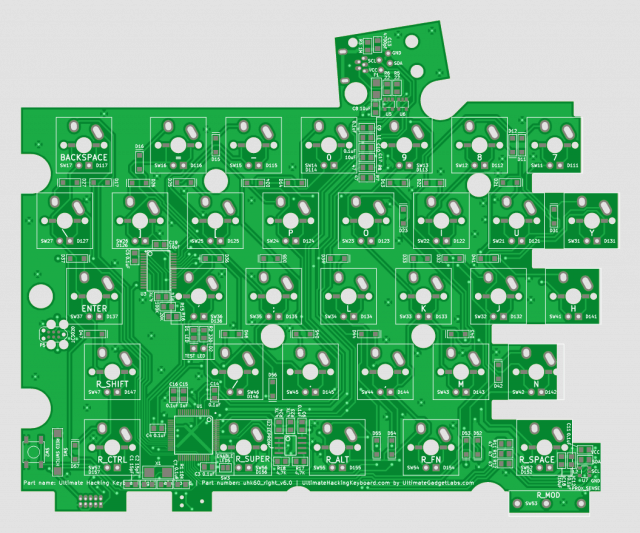 The back side of the right PCB